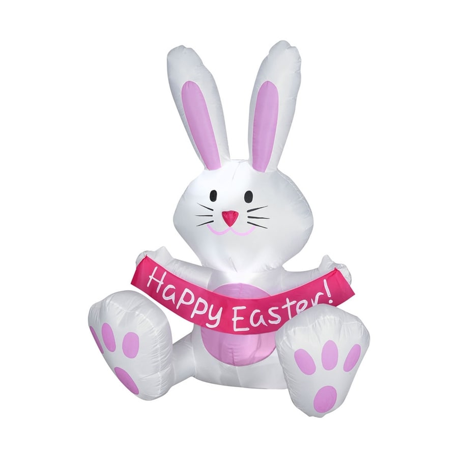J Marcus Inflatable Happy Easter Bunny Outdoor Easter Decorations