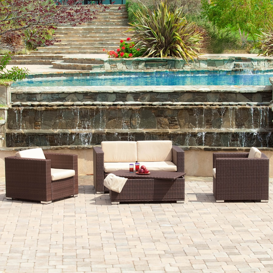 Best Selling Home Decor Murano 4-Piece Wicker Patio Conversation Set