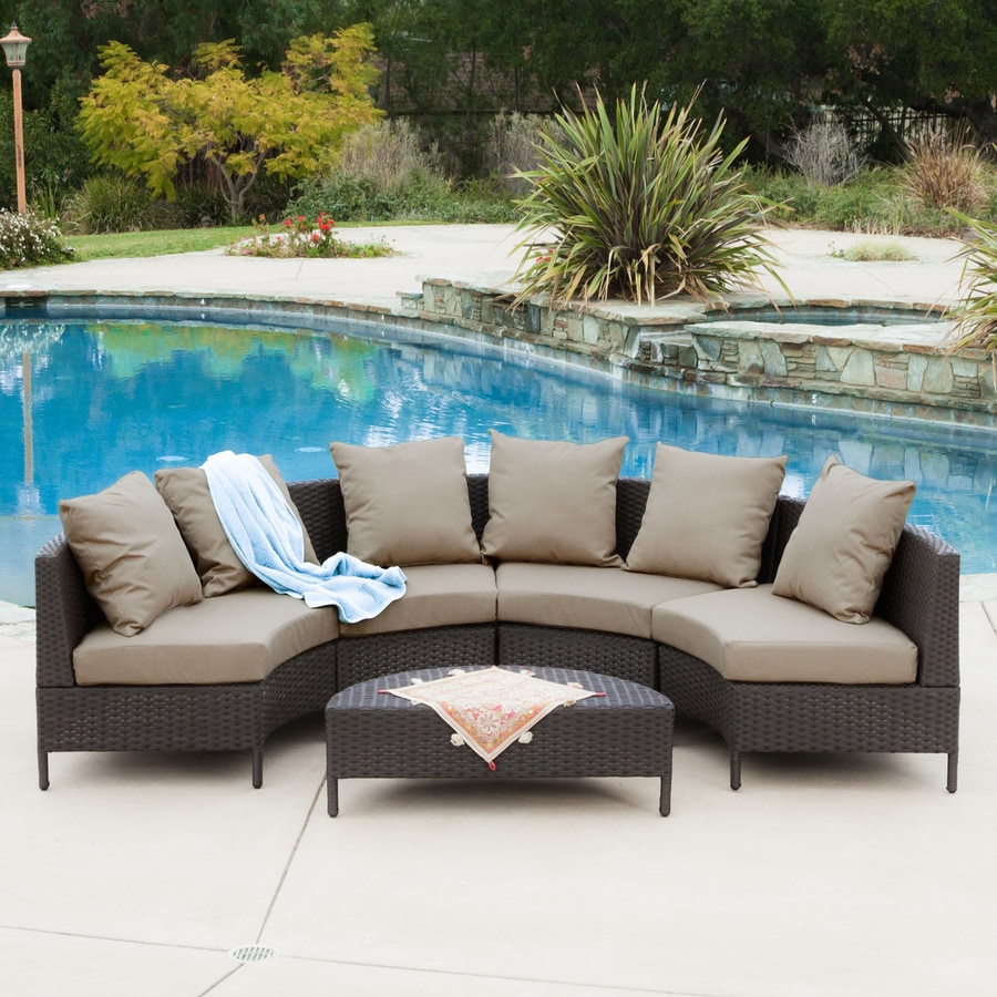 shop best selling home decor newton piece wicker patio  - best selling home decor newton piece wicker patio conversation set