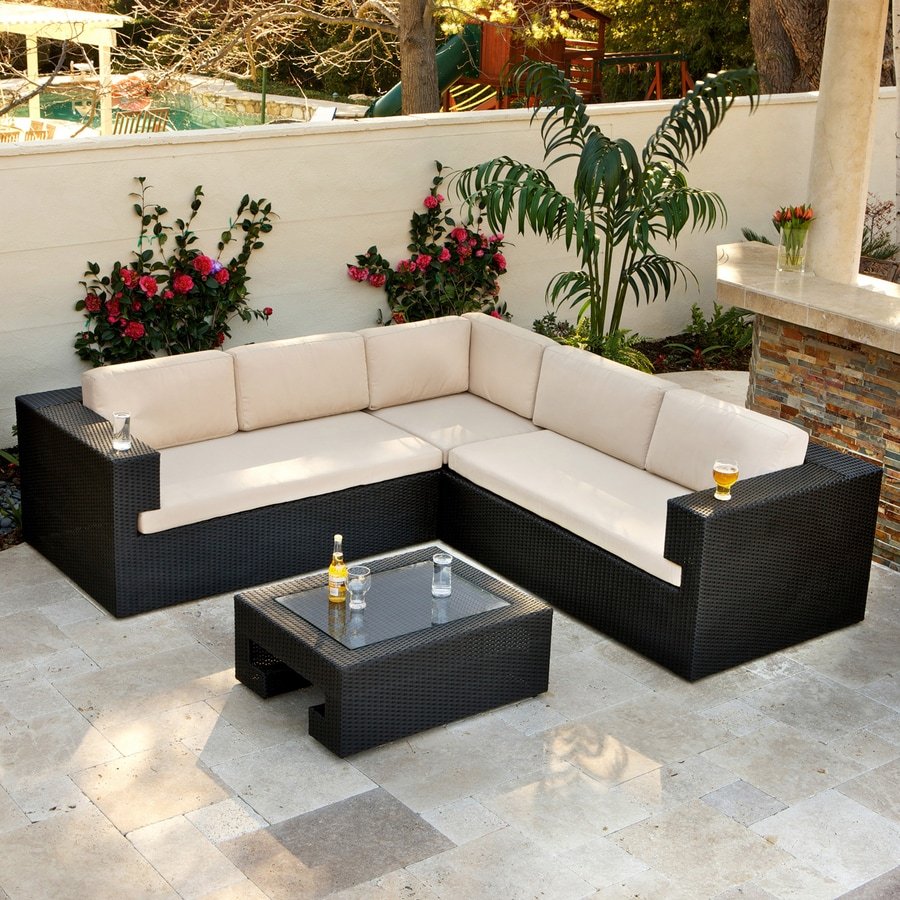 Shop best selling home decor ventura 4 piece wicker patio conversation set at - Home decorated set ...