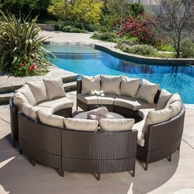 patio furniture sets. Best Selling Home Decor Newton 10-Piece Wicker Frame Patio Conversation Set With Taupe Cushions Furniture Sets