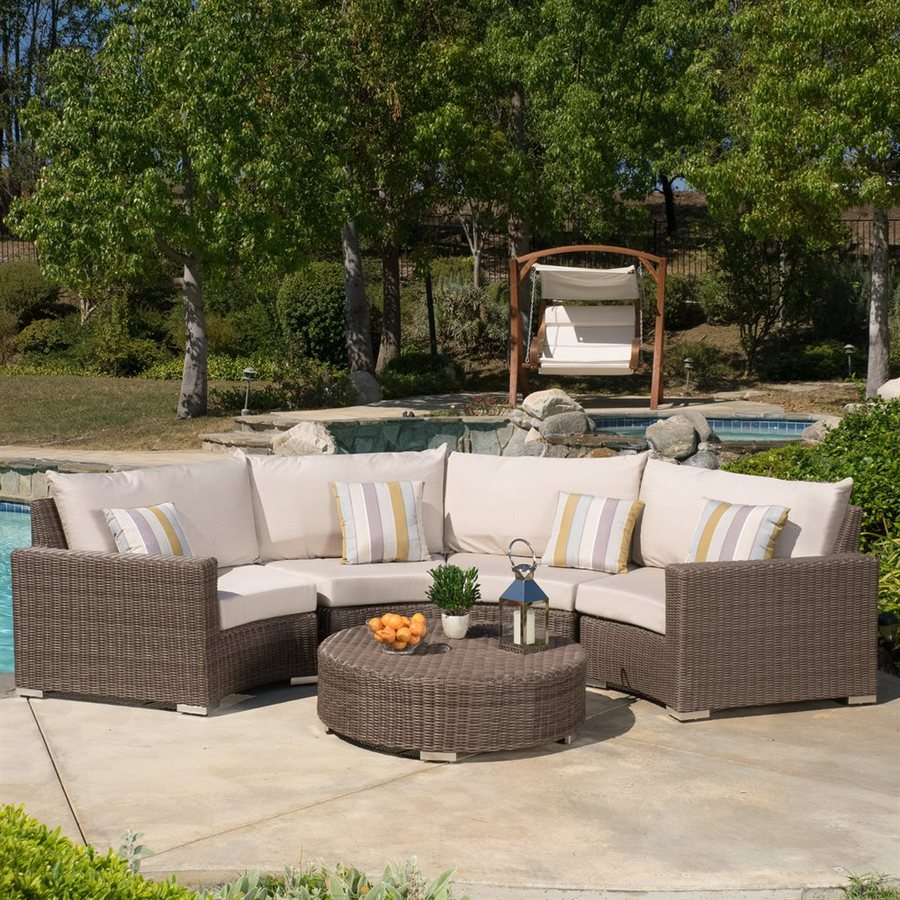 Best Selling Home Decor Milano 5 Piece Wicker Patio Conversation Set