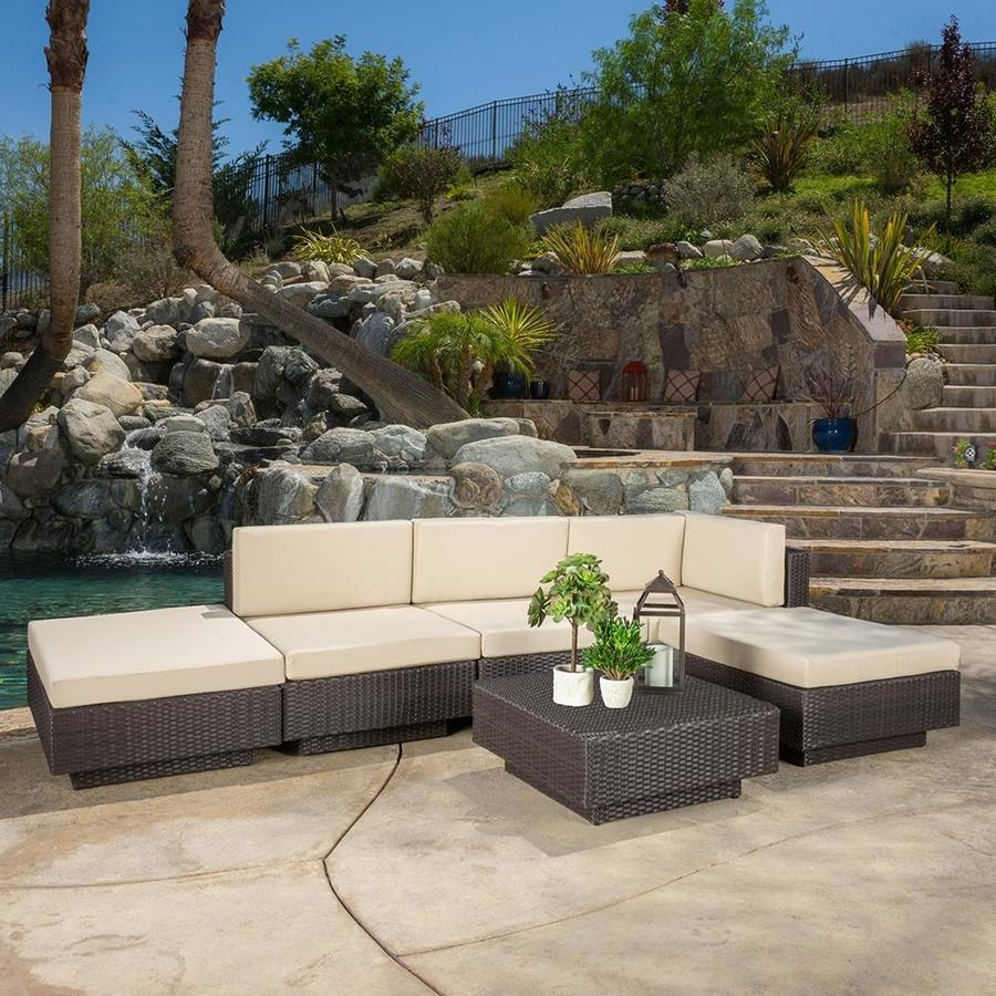 Best Selling Home Decor Santorini 6-Piece Wicker Patio Conversation Set
