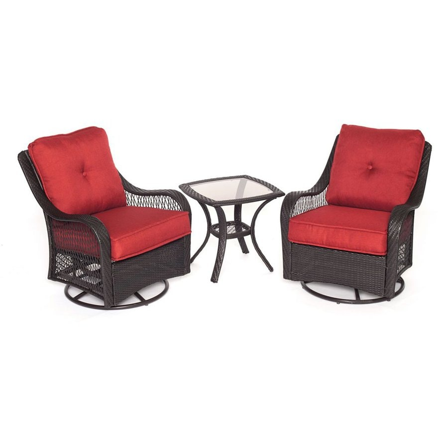 Hanover Outdoor Furniture Orleans 3-Piece Wicker Patio Conversation Set