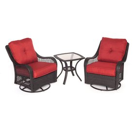 Hanover Outdoor Furniture Orleans 3 Piece Wicker Patio Conversation Set