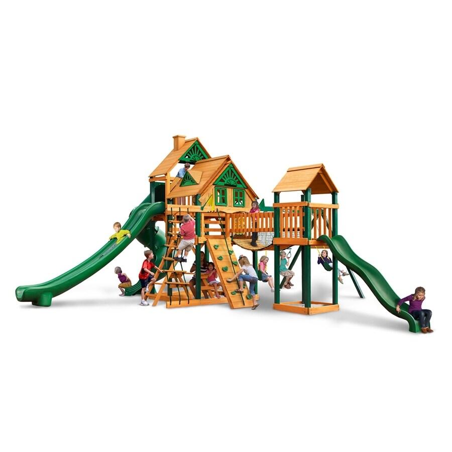 Gorilla Playsets Treasure Trove II Wood Playset with Swings