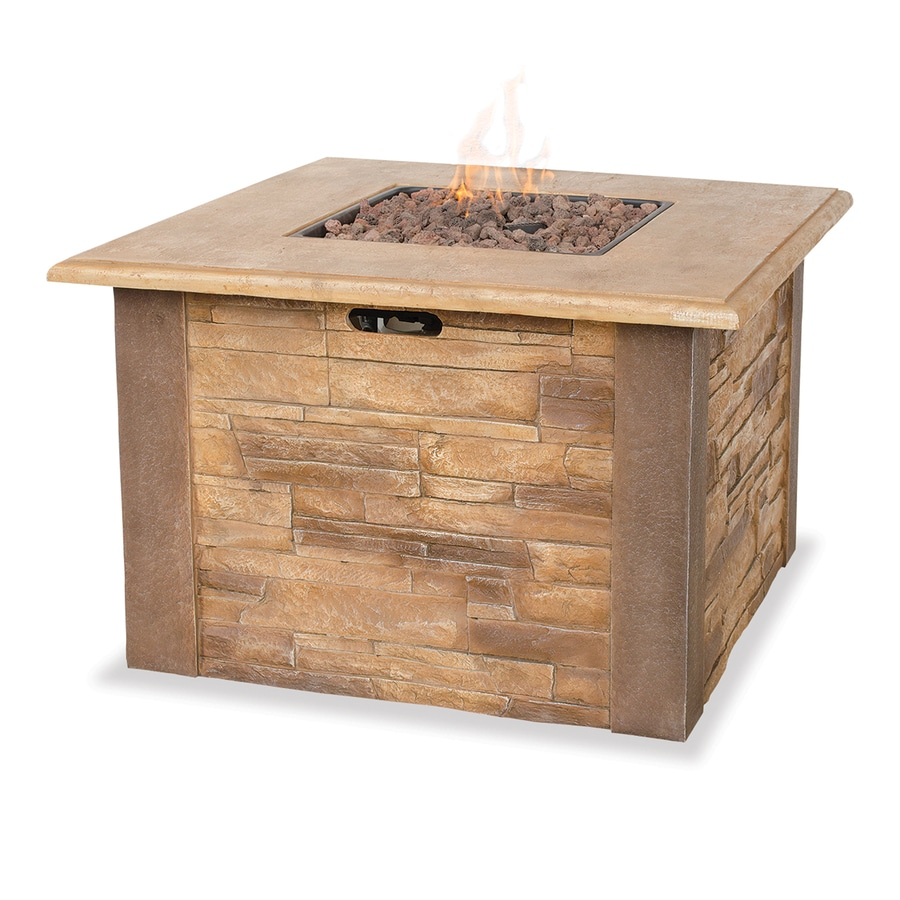 Blue Rhino UniFlame 36-in W 30,000-BTU Faux Stone Propane Gas Fire Table
