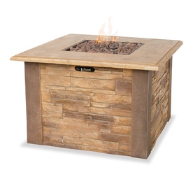 Blue Rhino 36 In W 30000 BTU Faux Stone Liquid Propane Fire Table