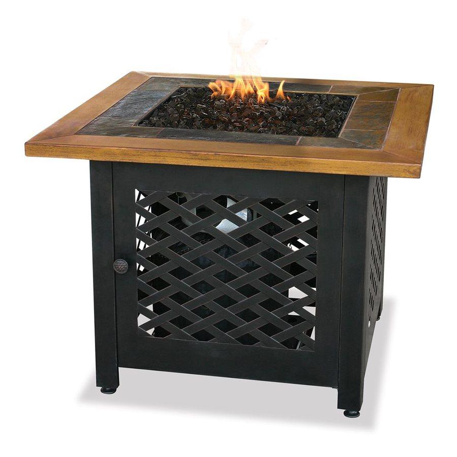 Blue Rhino UniFlame 32.1-in W 30,000-BTU Aluminum Propane Gas Fire Table