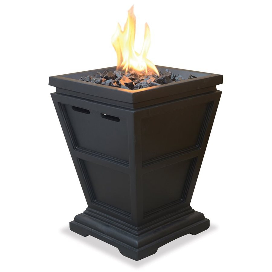 Blue Rhino UniFlame 11-in W 10,000-BTU Portable Faux Stone Propane Gas Fire Column