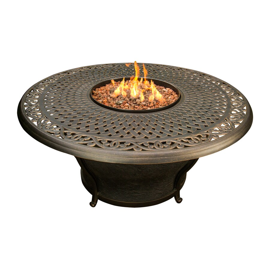 Oakland Living 48-in W 30000-BTU Antique Bronze Tabletop Aluminum Liquid Propane Fire Table