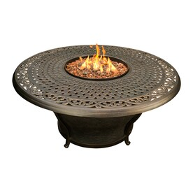 Oakland Living 48 In W 30000 BTU Antique Bronze Tabletop Aluminum Liquid  Propane Fire