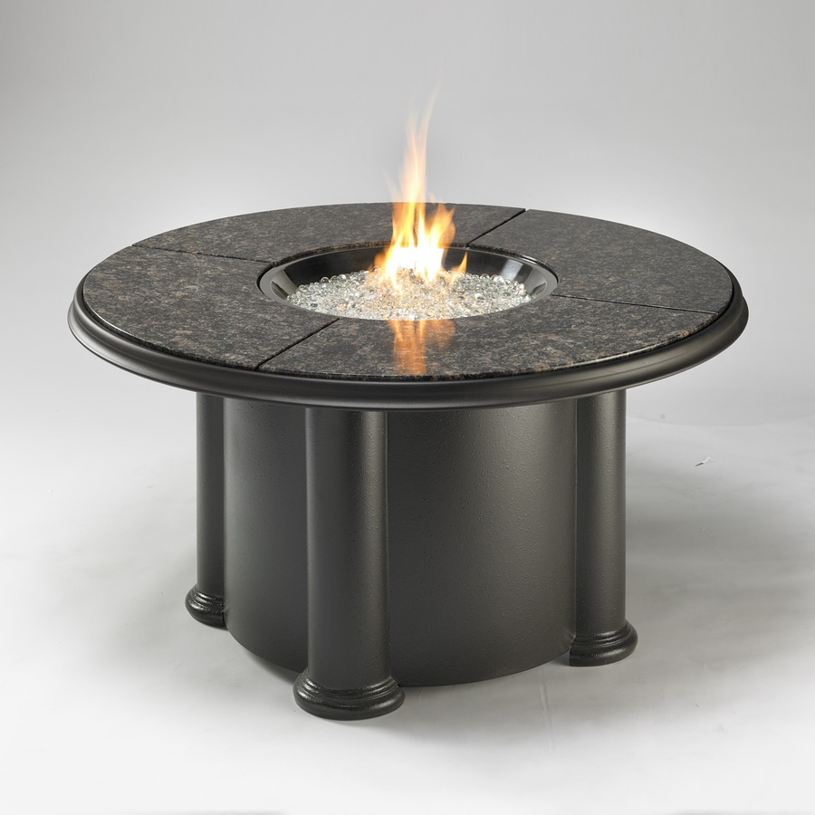 Outdoor Greatroom Company 48-in W 60000-BTU Black Stainless Steel Liquid Propane Fire Table