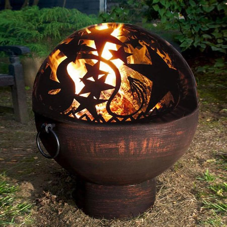 Good Directions 26-in W Black Steel Wood-Burning Fire Pit