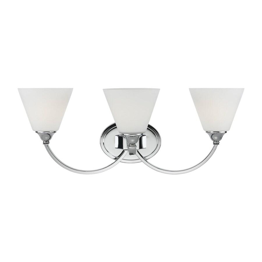 Portfolio 3-Light 9.69-in Polished chrome Cone Vanity Light