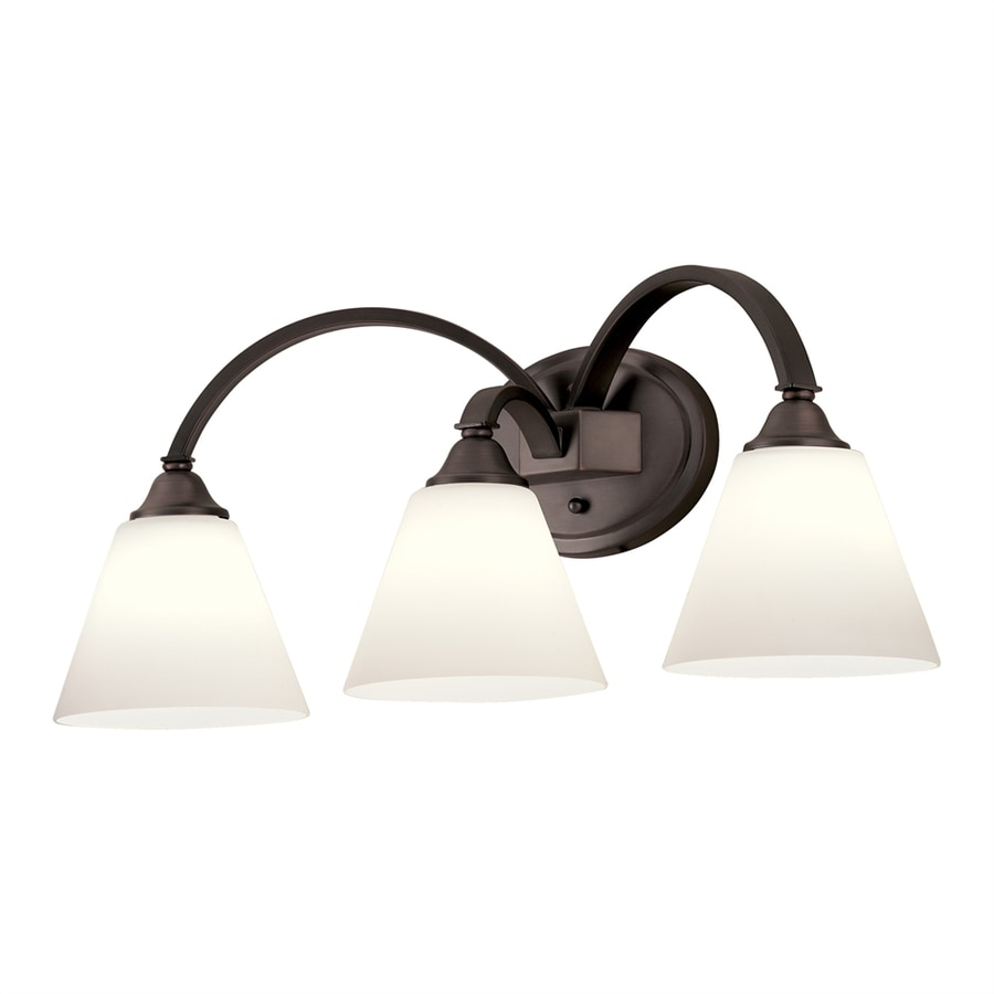 Portfolio 3-Light 9.69-in Dark Oil Rubbed Bronze Cone Vanity Light