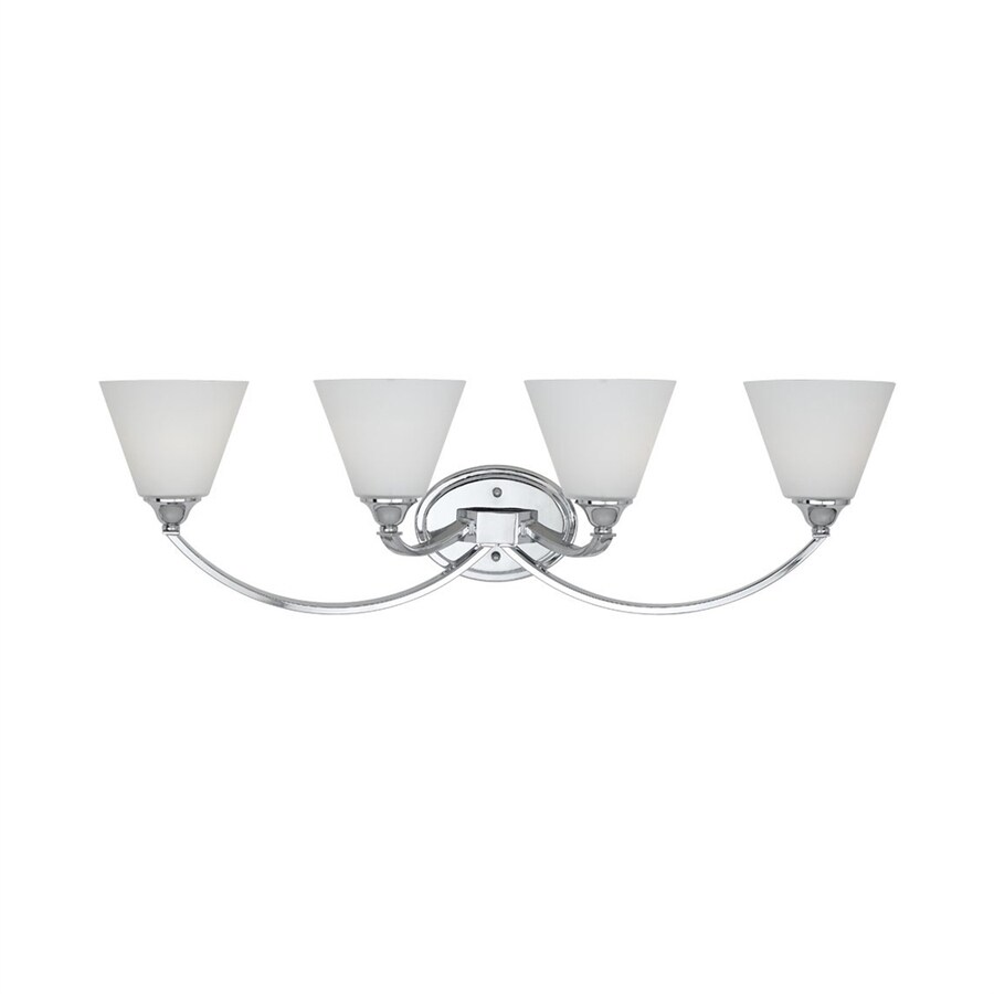Portfolio 4-Light 9.5-in Polished Chrome Cone Vanity Light
