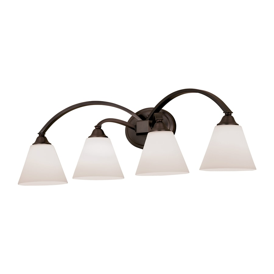 Portfolio 4-Light 9.6-in Dark oil rubbed Bronze Cone Vanity Light