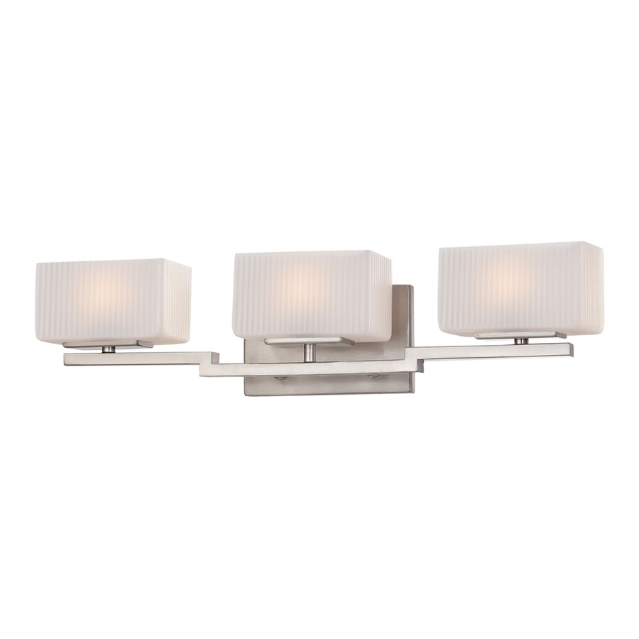 Shop Quoizel 3-Light Brushed Nickel Rectangle Vanity Light at Lowes.com