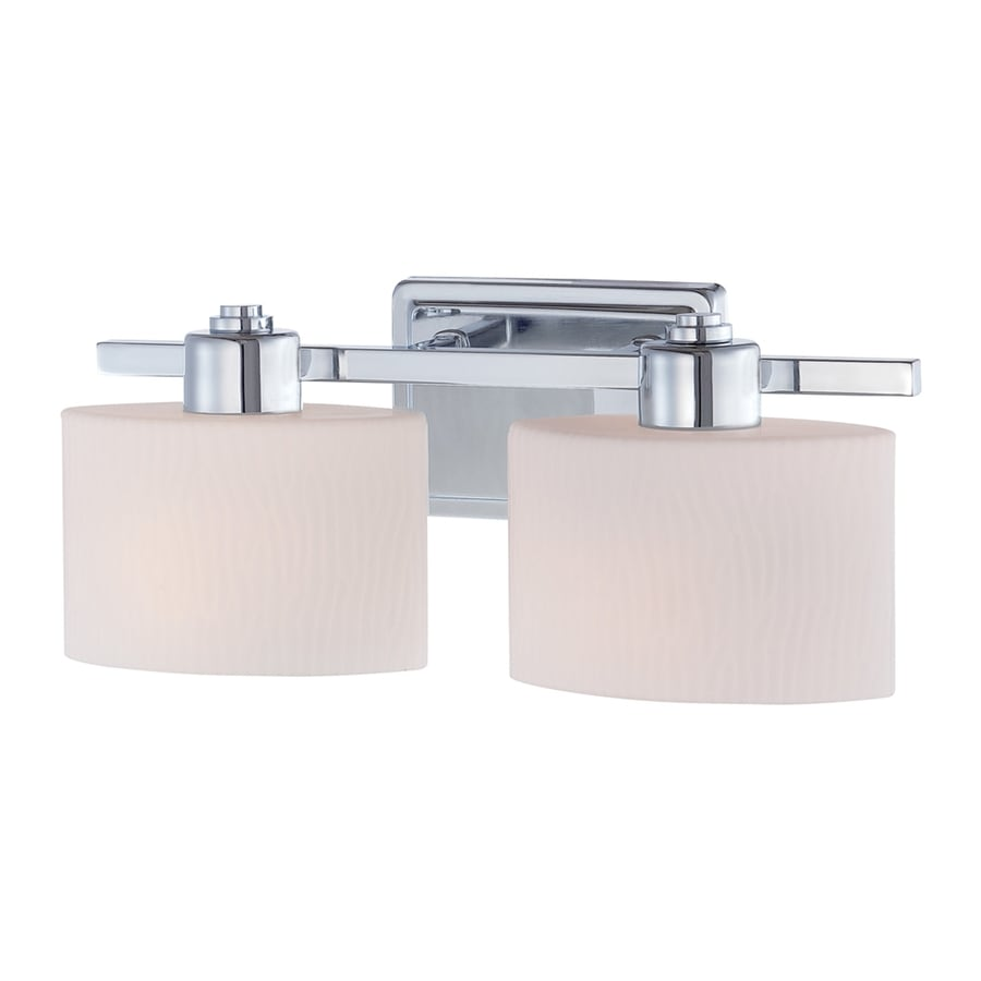 allen + roth 2-Light 6.5-in Polished Chrome Oval Vanity Light