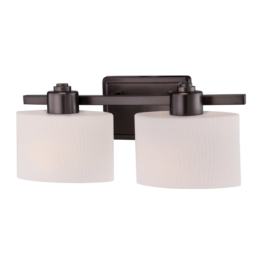 allen + roth 2-Light 6.5-in Harbor Bronze Oval Vanity Light