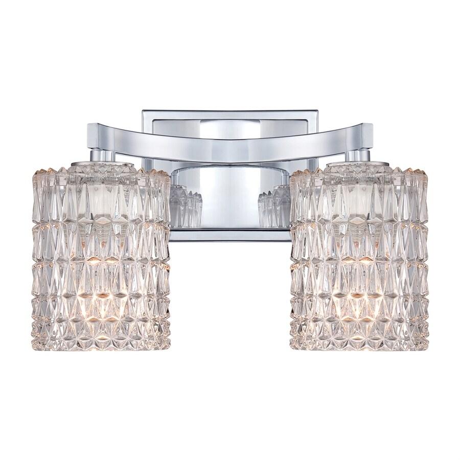 allen + roth 2-Light 8.25-in Polished Chrome Cylinder Vanity Light