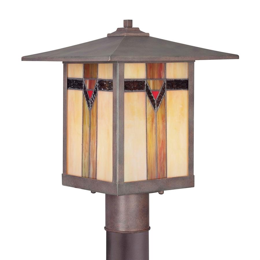 allen + roth 14.9-in H Bronze Post Light