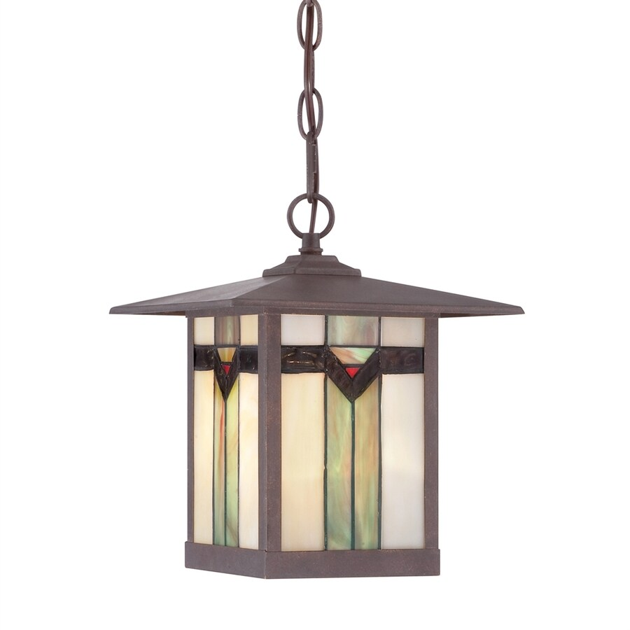 allen + roth 11-in Bronze Outdoor Pendant Light