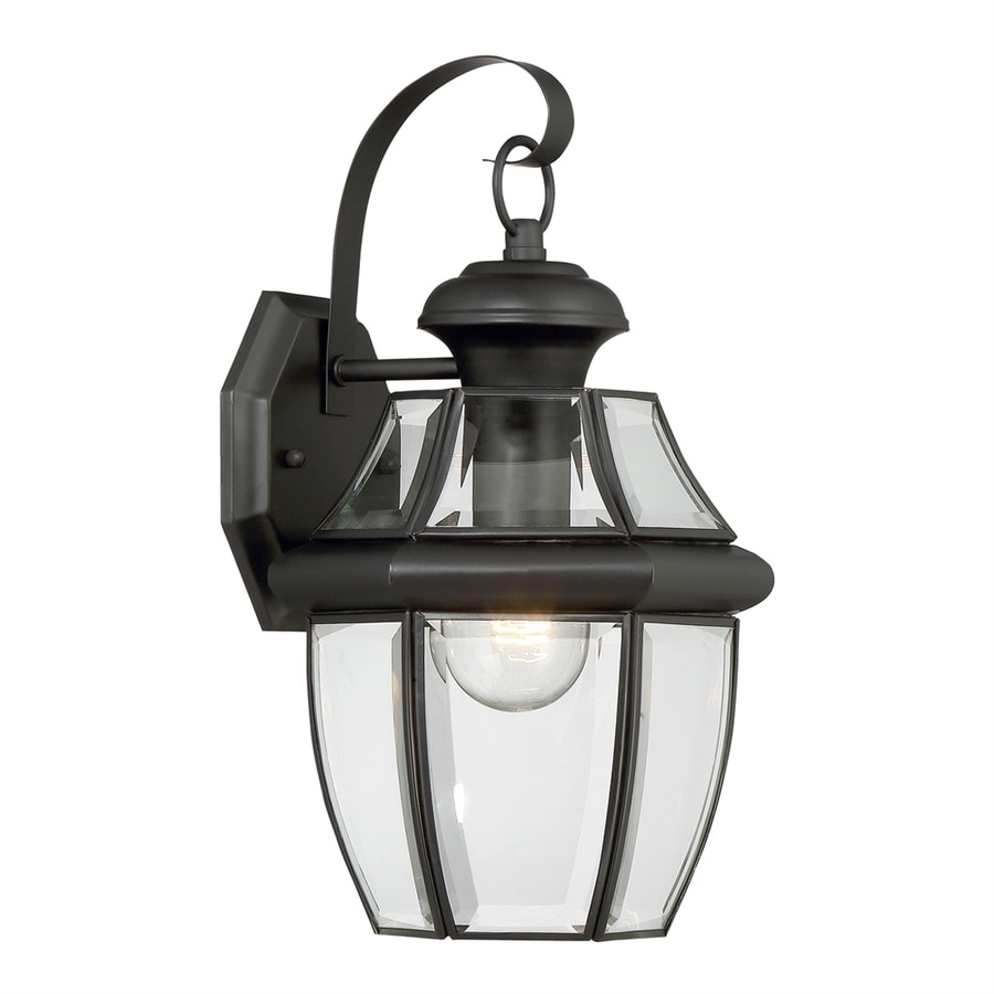 Portfolio 12-in H Mystic Black Outdoor Wall Light At Lowes.com