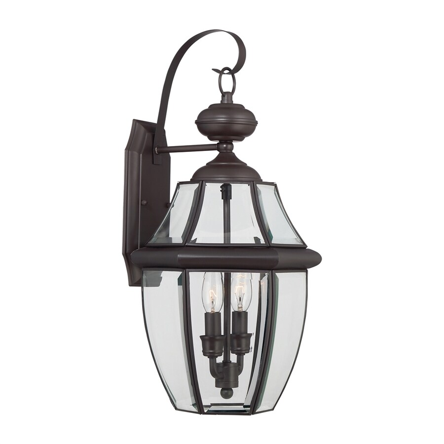 Wall Lantern Lowes : Shop Portfolio 20-in H Medici Bronze Outdoor Wall Light at Lowes.com