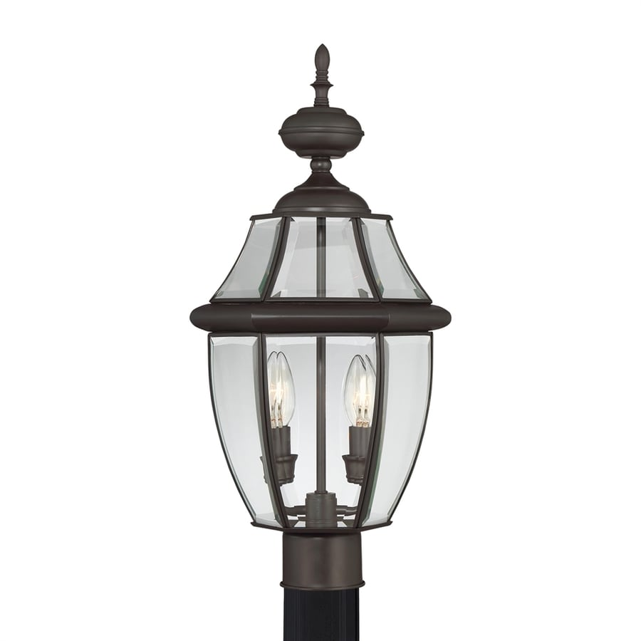 Portfolio Brayden 21.8-in H Medici Bronze Post Light
