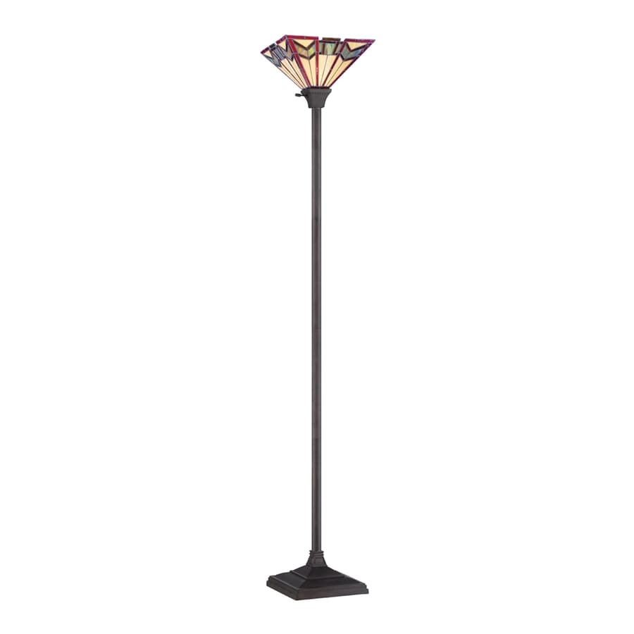 Shop quoizel 7075 in three way antique bronze torchiere for Livorno 3 way floor lamp