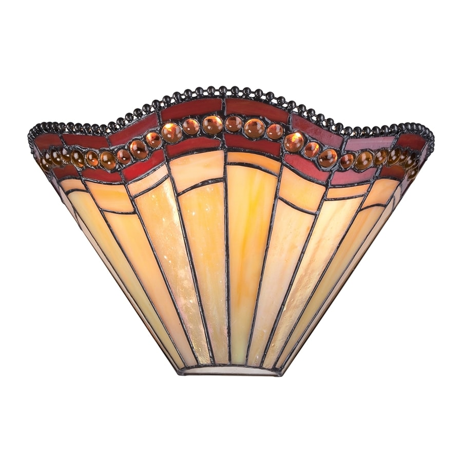 Shop Quoizel 5.88-in W 1-Light Tiffany-Style Pocket Wall Sconce at Lowes.com