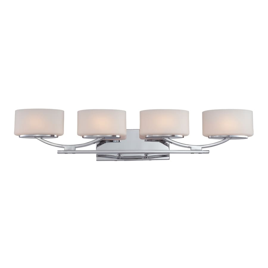 Ashley Harbour 4-Light 6.6-in Polished Chrome Oval Vanity Light