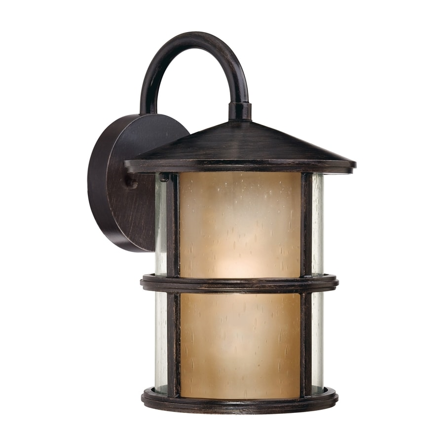 Ashley Harbour 12.88-in H Espresso Outdoor Wall Light