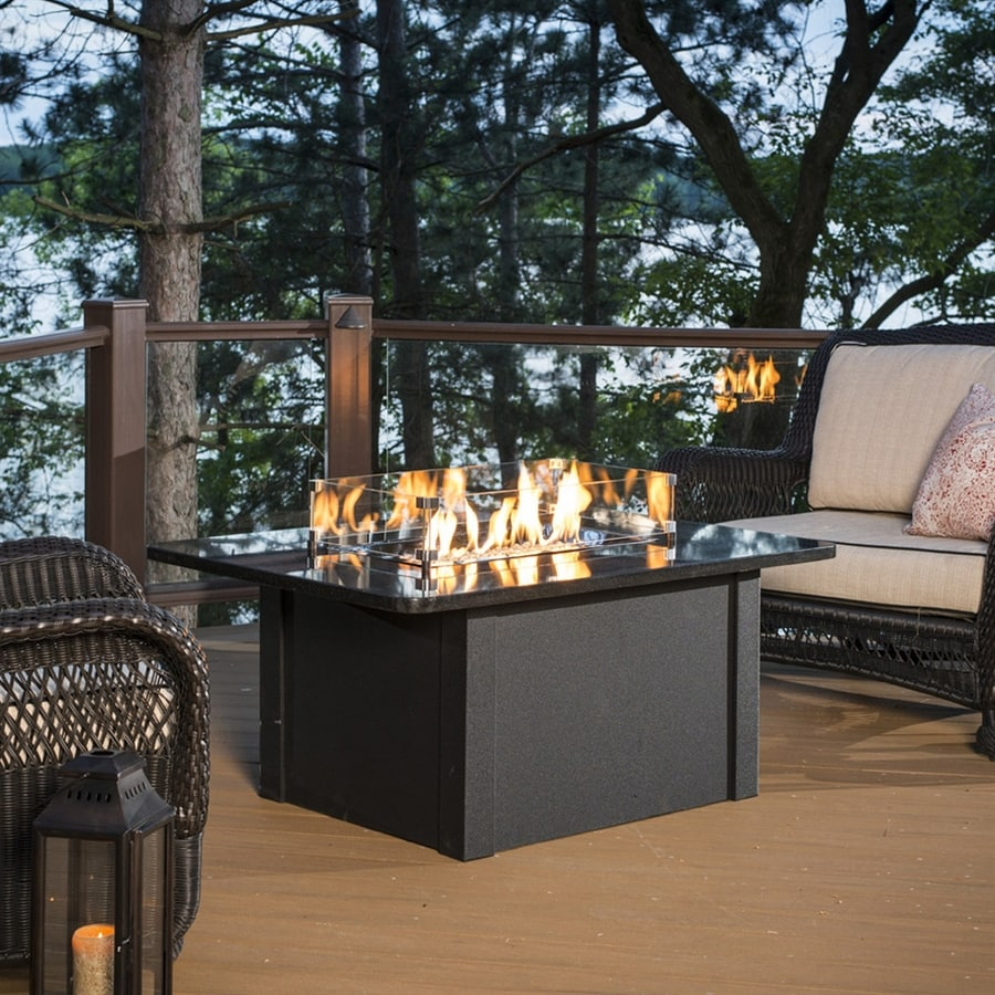 Outdoor Greatroom Company 36-in W 65,000-BTU Absolute Black Liquid Propane Fire Table