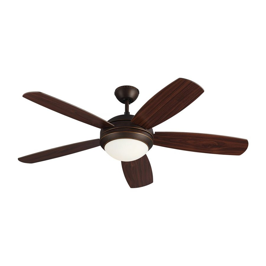 Monte Carlo Fan Company Discus ES 52-in Roman bronze Indoor Downrod Mount Ceiling Fan with Light Kit ENERGY STAR