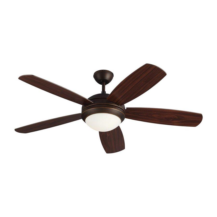 Monte Carlo Fan Company Discus Es 52-in Roman Bronze Downrod Mount Indoor Ceiling Fan Standard (5-Blade) ENERGY STAR