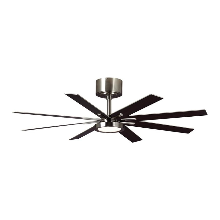 Shop Monte Carlo Fan Company Empire 60 In Brushed Steel