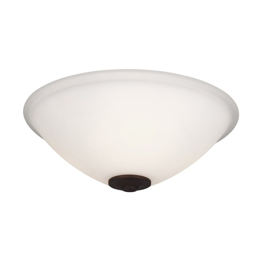 Monte Carlo Fan Company 2-Light Fluorescent Ceiling Fan Light Kit with Frosted Glass