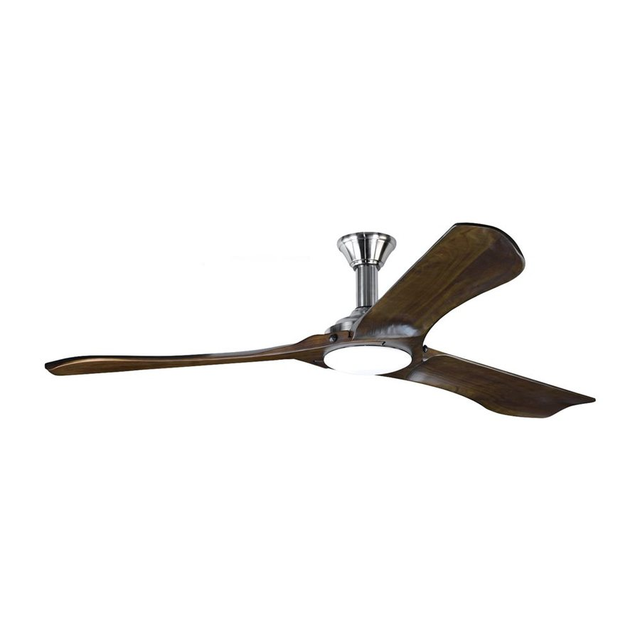 Monte Carlo Fan Company Minimalist Max 72 In Walnut Integrated Indoor Outdoor Downrod Mount