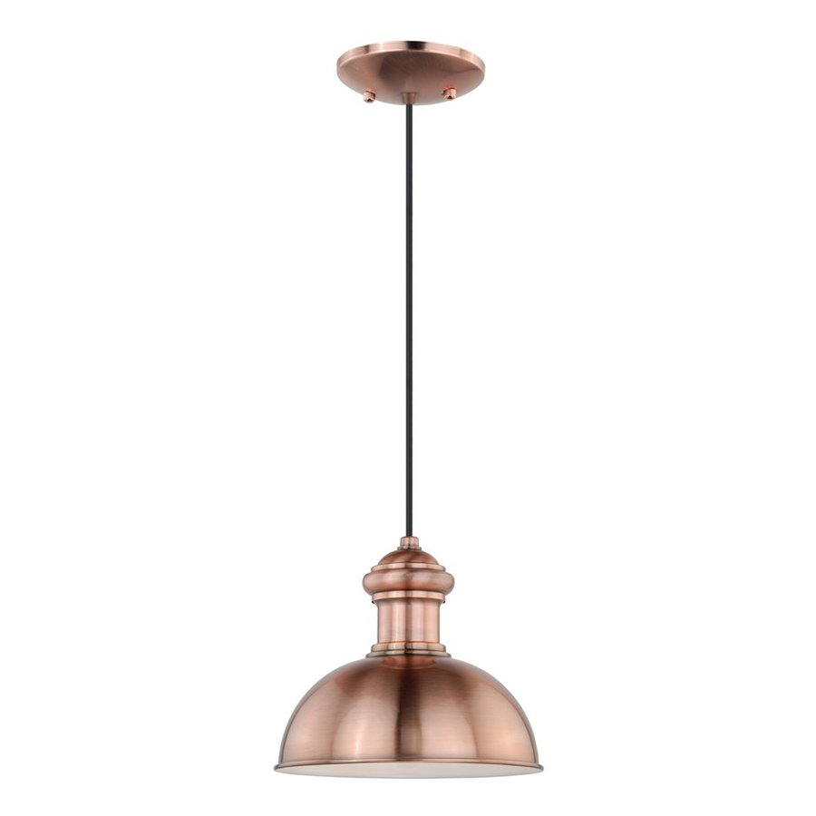 Cascadia Lighting Franklin 9.25-in Copper Outdoor Pendant Light