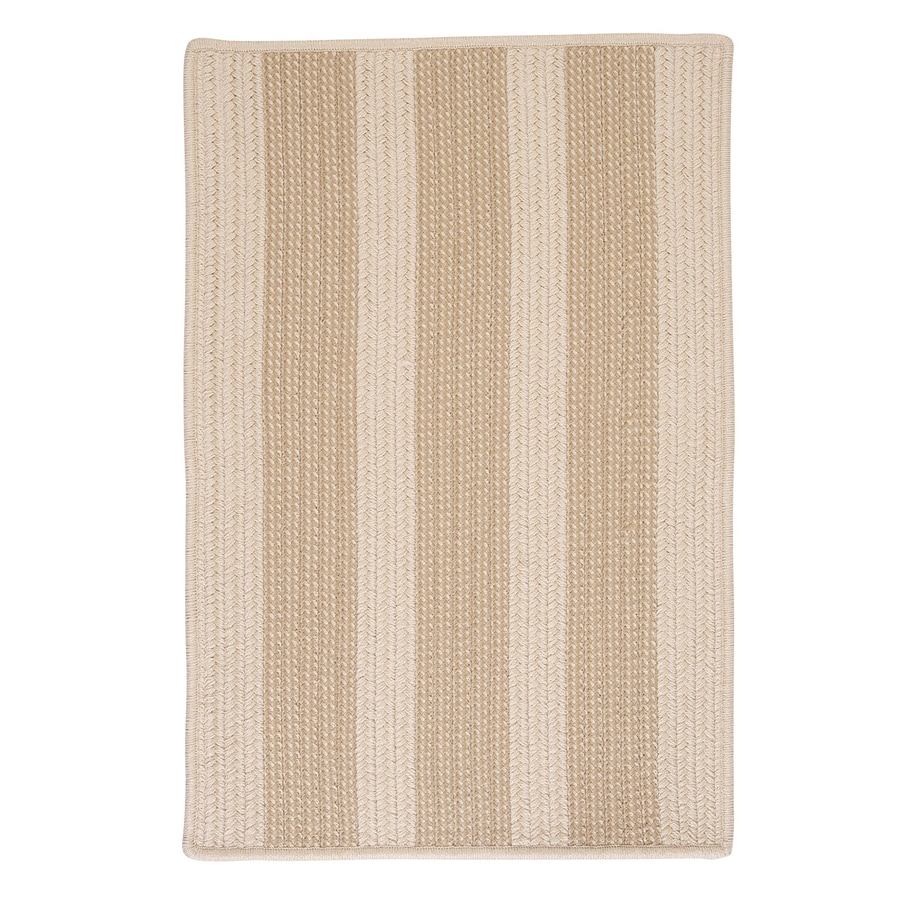 Colonial Mills Boat House Natural Rectangular Indoor/Outdoor Braided Area Rug (Common: 8 x 11; Actual: 8-ft W x 11-ft L)