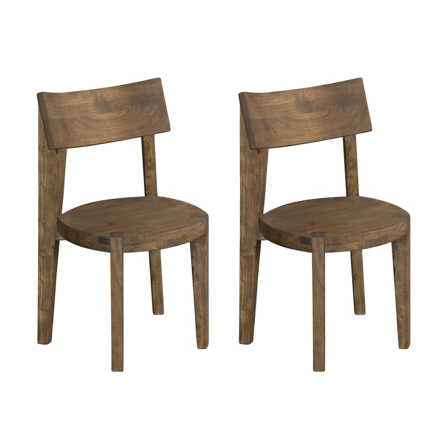 Coast to Coast Set of 2 Sequoia Light Brown Side Chair