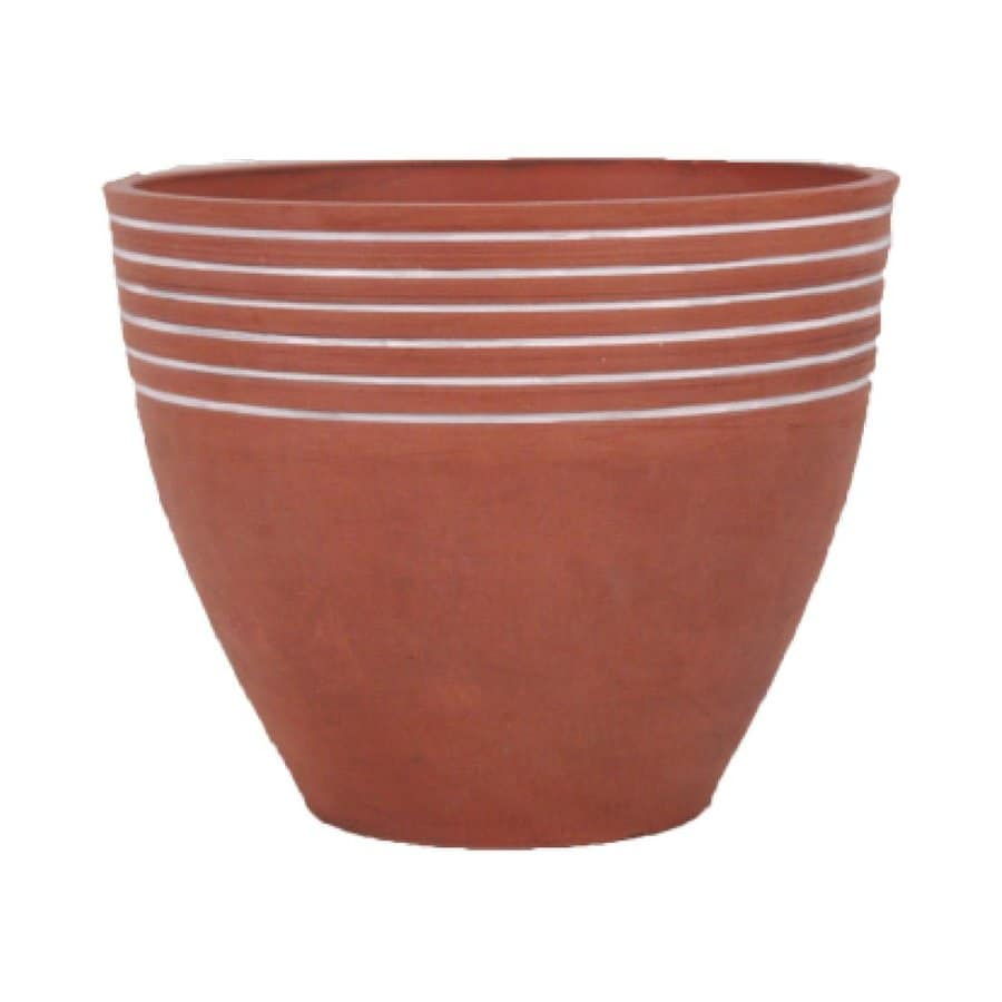 Arcadia Garden Products 16 In W X 13 In H Terra Cotta Mixed/