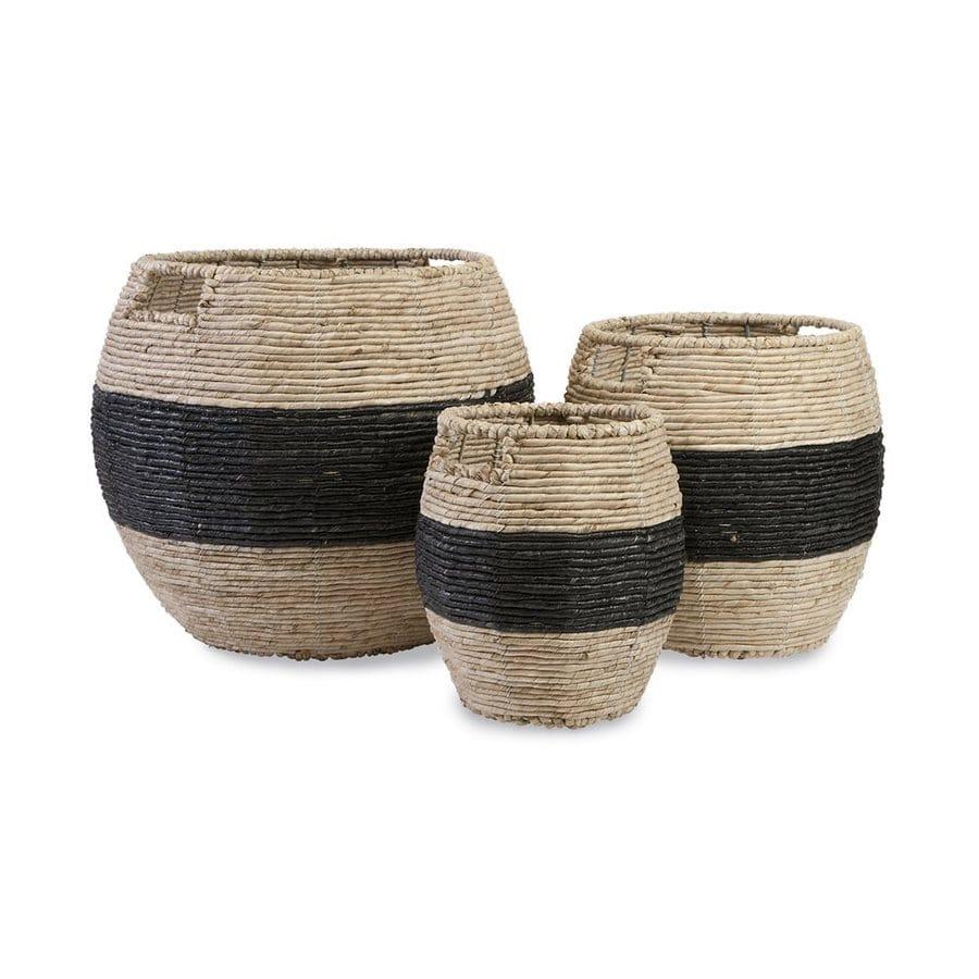Imax Worldwide 3-Pack Dorran Natural/Black Maize Baskets