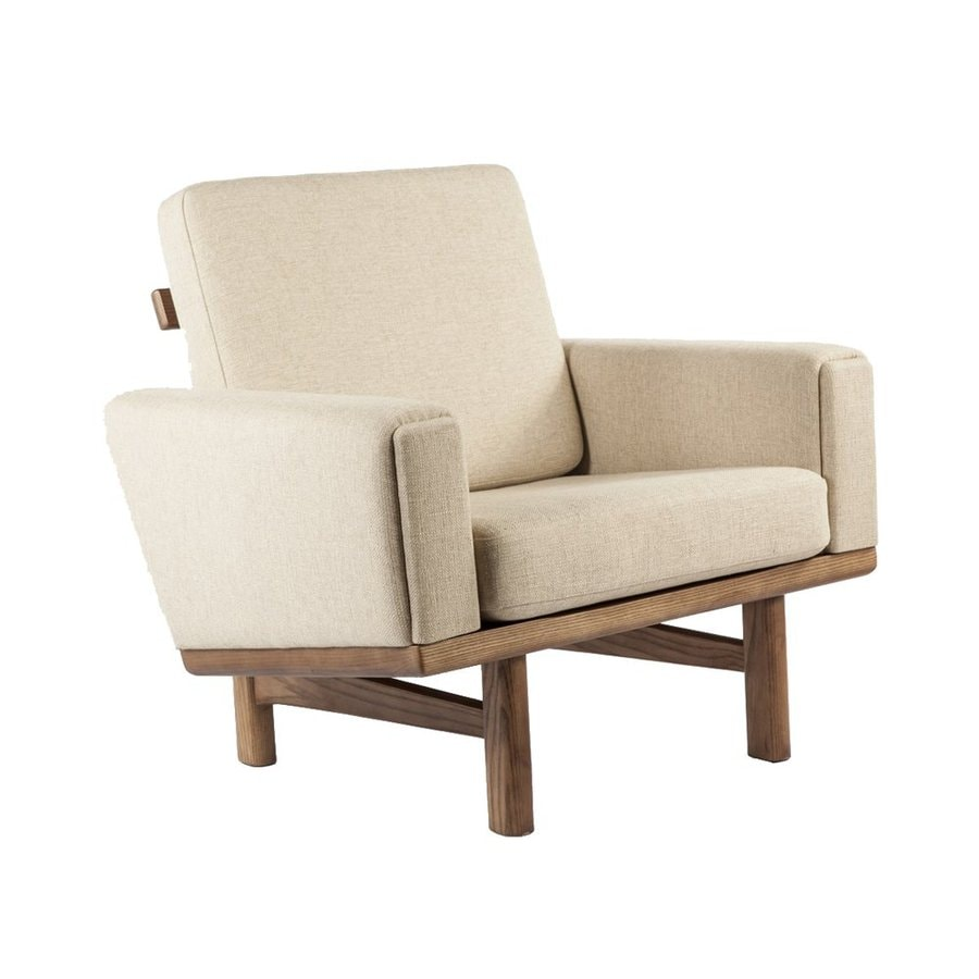 Control Brand Geleen Beige Wool Blend Accent Chair