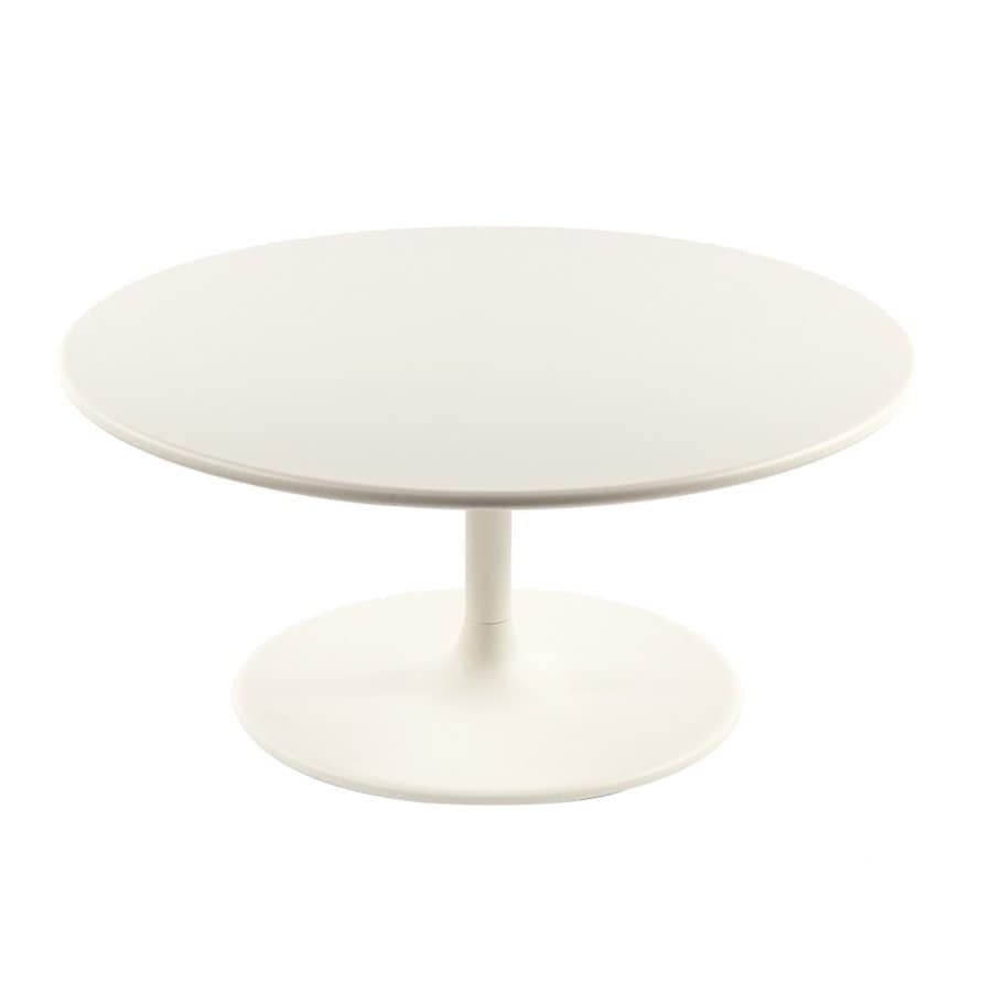 Control Brand Gendt 35.5-in W x 35.5-in L Round Aluminum End Table