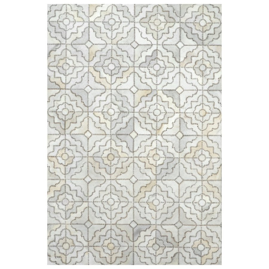 nuLOOM Cowhide Grey Rectangular Indoor Handcrafted Lodge Area Rug (Common: 8 x 10; Actual: 7.5-ft W x 9.5-ft L)