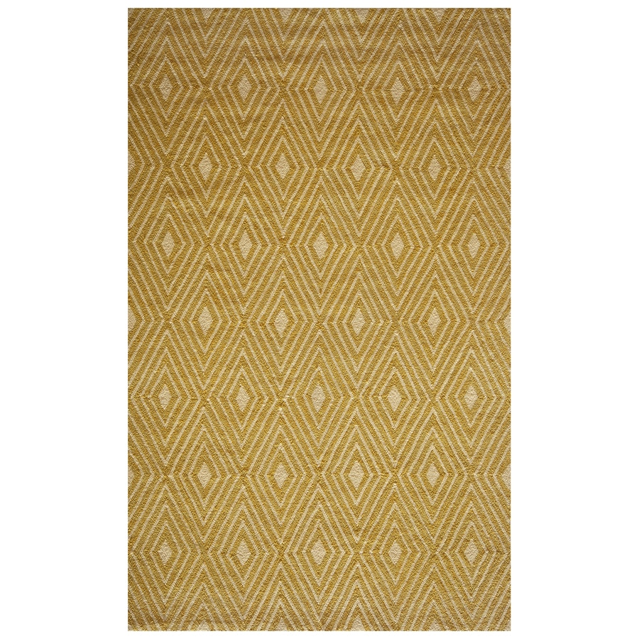 Momeni Veranda Yellow Rectangular Indoor/Outdoor Hand-Hooked Area Rug (Common: 5 x 8; Actual: 5-ft W x 8-ft L)